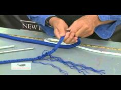 Lessons learned from our first attempt at splicing double braid line. Sailing Knots, Sailing Gear, Splicing Rope, Yacht Rope, Rope Tying, Rope Halter, Living On A Boat, Braided Line, Paracord Knots