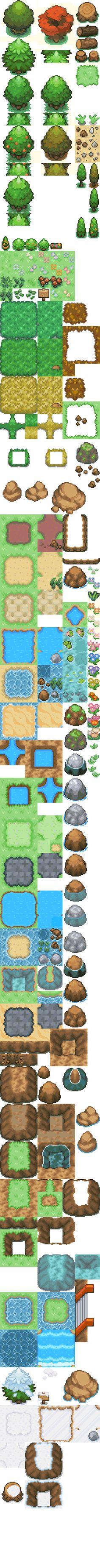 tileset pokemon RPGMAKER XP by kutoal.deviantart.com on @deviantART