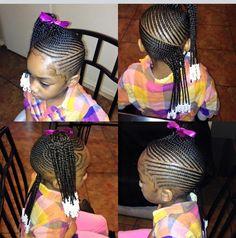 Little Girl Braids, Black Girl Braids, Braids For Kids, Girls Braids, Little Girl Braid Styles, Cute Hairstyles For Kids, Baby Girl Hairstyles, Kids Braided Hairstyles, Black Girls Hairstyles