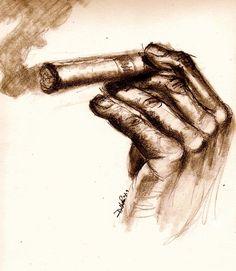 Cigar by Dallas Roquemore - Cigar Drawing - Cigar Fine Art Prints ...