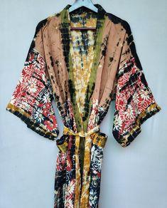 Cotton Kaftan, Cotton Jacket, Cotton Saree, Cotton Bag, Bohemian Kimono, Bridal Party Robes, Cotton Sleepwear, Kimono Dress, Comfortable Outfits