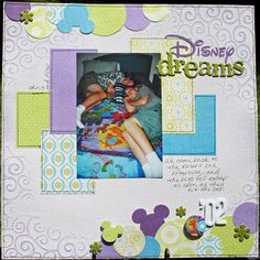 """""""Disney Dreams"""".  Love her color choices and the Mickey heads worked into the border."""