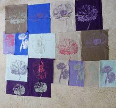 Fleurs sur tissu