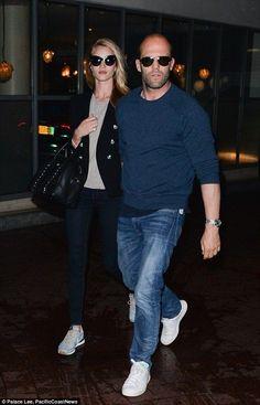 Rosie Huntington-Whiteley.. Anine Bing Sweater, Balmain Blazer, Frame Denim Skinnies, Givenchy bag, and Nike X Liberty trainers..... - Celebrity Fashion Trends