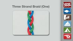 This Three Strand Braid is the one most commonly used to braid hair.  Each outer strand is passed over (on top of) the center strand.