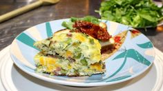 fritata Quiche, Eggs, Breakfast, Food, Salads, Ham And Cheese, Plate, Recipes, Meals