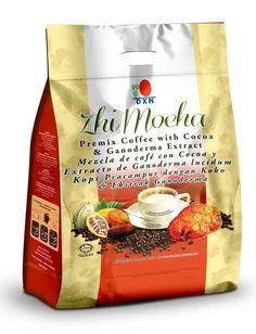 """Dettagli del prodotto """"OFFERTA SPECIALE SOLO PER COLORO CHE EFFETTUANO LA REGISTRAZIONE CLIENTE ABITUALE"""" Zhi Mocha DXN Zhi Mocha è un caffè preparato per gli appassionati di caffè a cui piace anche il cioccolato. Zhi Mocha, ricco di aromi, è preparato con chicchi di caffè selezionati ed è una miscela di caffè solubile in polvere, estratto di Ganoderma e polvere di cacao. Contenuto della scatola 20 bustine x 21g"""
