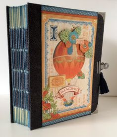 My Mindful Creations: Graphic World's Fair Altered File Folder Journal / Mini Album Combination Scrapbook Albums, Scrapbooking, Mini Album Tutorial, World's Fair, Graphic 45, Alters, Mindful, Mini Albums, Paper Crafts