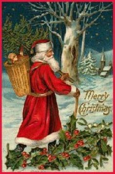 """New With Envelope /""""Santa With Puppies /& Kittens/"""" Leanin Tree Christmas Card 1"""