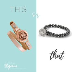 This or That? Two styles of scented jewelry. Yum! Exclusively from Origami Owl ❤️ @ carinagoens.com