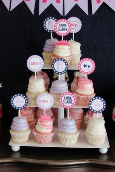 Cupcakes at a Pretty Pink BFF Party #bff #cupcakes