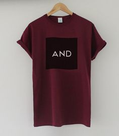 Burgundy Black AND Tee