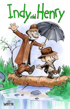 Calvin and Hobbes inspired Indiana Jones art by UnderdogMike
