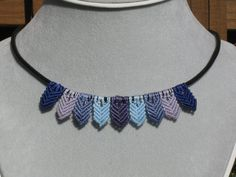 Chevron Micro Macrame Necklace by farfrumplainjane on Etsy, $20.50...one of our customers made this great necklace!  She's offered to teach so let us know if this is something you'd like to learn and we'll set it up!