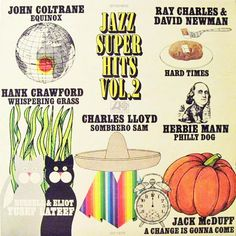 """Cover of """"Jazz Super Hits Vol. 2"""", Atlantic SD 1559, 1970. With """"Hard Times"""" attributed to """"Ray Charles & David Newman"""" and """"Bennie Crawford"""" mentioned as sideman in linernotes, and """"Whispering Grass"""" by """"Hank Crawford""""."""