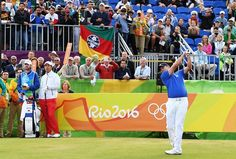 History. Adilson da Silva tees off, taking the first Olympic Golf shot since 1904 at Rio 2016 in #rio2016 in phlow