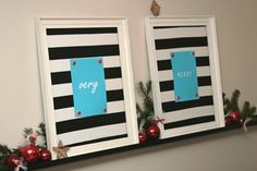 Quick DIY Christmas decor. Different colors for me