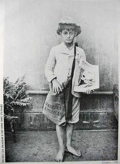 Vendedor de jornais - 1914.