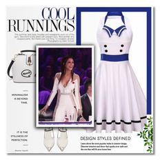 """""""Backless Sleeveless Sailor Collar Midi Pin Up Dress 59"""" by blagica92 ❤ liked on Polyvore featuring Prada"""