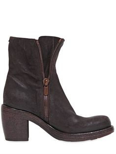 ROCCO P. - 90MM ZIPPED SUEDE BOOTS - LUISAVIAROMA - LUXURY SHOPPING WORLDWIDE SHIPPING - FLORENCE