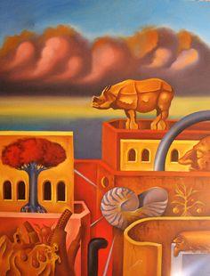 Ruben Cukier  Jerusalem 2 by Ruben Cukier oil on canvas 2013