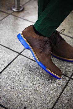 blue soles #colehaan #shoes #menswear