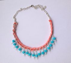 Neon Statement Necklace statement necklace by MaFeAccessories, $15.99