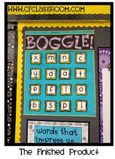 Classroom Boggle wall (word study center...)