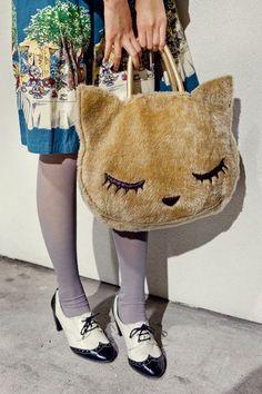 Niedliche Kitty-Tasche : x – 6211 vintage mode kleider | Bilder kostenlos