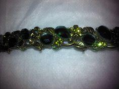 Green Stoned Bracelet by BJDevine on Etsy
