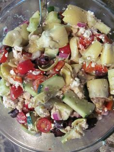 pasta-less pasta salad :) Results****Wonderful!  Great recipe to add whatever your heart desires!  For dressing, I used Newman's light balsamic instead of cider vinegar.  Yummy for those eating low-carb!