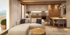 Apartament z antresolą w stylu górskim - Apartamenty Bawaria Szklarska Poręba #apartamenty #bawaria #szklarskaporeba #mieszkania #gory #sprzedaznieruchomosci #sprzedaz #nieruchomosci #domydokupienia #apartament