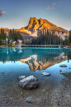 Emerald Lake Sunset in Yoho National Park, British Columbia, Canada by Pierre Leclerc Photography Cool Landscapes, Beautiful Landscapes, Places To Travel, Places To See, Canada Pictures, Vancouver Travel, Yoho National Park, Emerald Lake, Beautiful Places To Visit