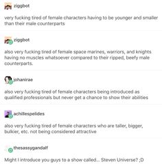 YES<<considering the likes of Jasper and Garnet as the most attractive of their race, feminists need to watch this show