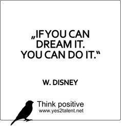 IF YOU CAN DREAM IT. YOU CAN DO IT.  #DISNEY #quoteoftheday #bestoftheday #amazing #awesome #style #picoftheday #doit #wahrheit #tgif #statement #love #live #laugh #learn #wahrheit #behappy #inspiration #motivation #thinkpositive #thinkahead #thinkbig #yes