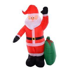8 Ft Airblown Inflatable Christmas Xmas Santa Claus Gift Decor Lawn Yard Outdoor