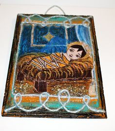 Sale 50 off marked down  Baby Jesus Nativity Star  by FlorLarios, $17.50
