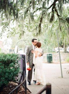 Charlotte Tittle Photography » Virginia based international photographer www.charlottetphotos.com  #savannah #georgia #wedding #bride #BHLDN #gown #kiss #intimate #contax645 #kodakportra800 #filmphotography
