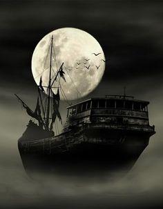 Ghost ship set sail on empty seas