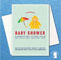 DIY Custom Printable Baby Shower Rain Coat by TheBritishRule, $15.00 Good Daddy, Baby Shower Printables, Rsvp, Coat, Paper, Handmade Gifts, Diy, Kid Craft Gifts, Sewing Coat