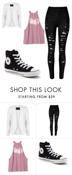 """""""Untitled #255"""" by sierrapalmer10 on Polyvore featuring River Island, RVCA and Converse"""