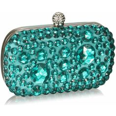 Emerald Sparkly Crystal Satin Clutch purse ❤ liked on Polyvore featuring bags, handbags, clutches, purses, sparkle handbags, blue purse, satin clutches, crystal purse and purse