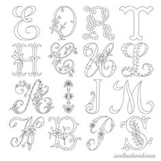 Favorite Monograms for Hand Embroidery and Other Crafts
