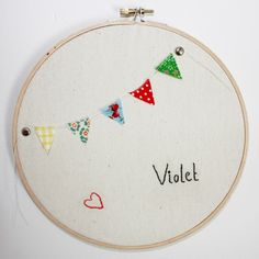 mini fabric bunting embroidery hoop