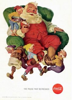 Ar collection of Old Coca cola ads and posters. Ar collection of Old Coca cola ads and posters. - Creative, Interesting - Check out: Awesome Vintage Coca-Cola Advertisement Posters on Barnorama Coca Cola Christmas, Christmas Scenes, Noel Christmas, Vintage Christmas Cards, Christmas Pictures, Vintage Cards, Xmas Elf, Christmas Print, Father Christmas