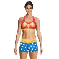 3D print high-elastic quick-drying breathable cartoon supergirl outdoor sports vest shorts suit Running bra 2 pieces sets