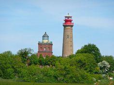 Leuchttürme am Kap Arkona, Ostsee-Insel Rügen ...