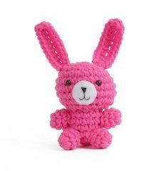 Mini Bunny Amigurumi - $7.99 by Carolyn Christmas of Pink Mambo and Gourmet Crochet | Bunny Rabbits Part 2 - Animal Crochet Pattern Round Up - Rebeckah's Treasures