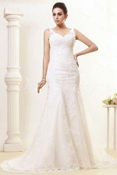 Glorious Trumpet/Mermaid V-neck Court Train Vintage Taline's Wedding Dress