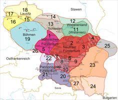 Pannonien – Westslawische Stämme in Zentraleuropa Ende des 9. Jahrhunderts